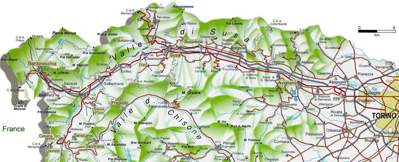 Bardonecchia Cartina Geografica.Valle Di Susa